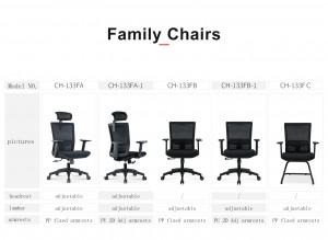 Mesh Chair 133F Series for Office Use