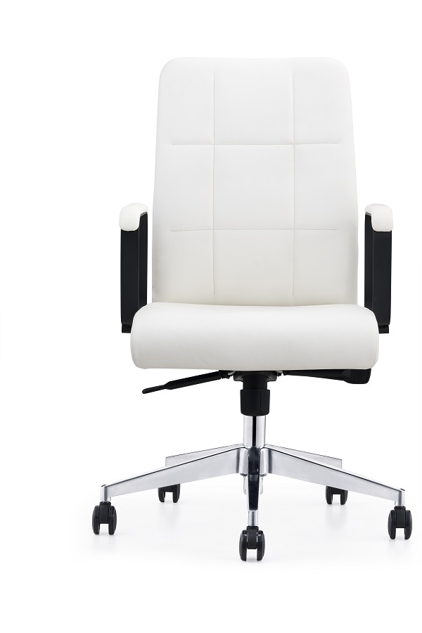 Modern Leather Chair with Aluminum Base Featured Image