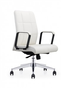 Modern Leather Chair with Aluminum Base