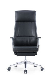 Reclining Leather chair with footrest
