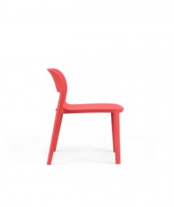 Design Chair Leisure Chair Colorful Plastic Chair  With or Without Amrest EAI-001C