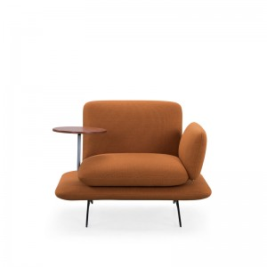Single fabric sofa with table
