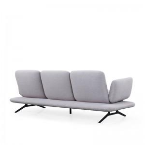 Three seater fabric sofa